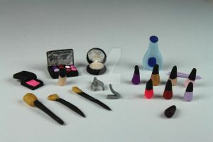 1:12 Scale Miniature Beauty Salon Make Up Set by BeautifulEarthStudio