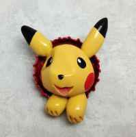 Pikachu Pop-Out Button by LeiliaClay