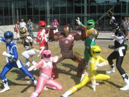 Power rangers Super sentai team mighty morphin by Tsumisan