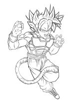 Arevir SSJ2 Attack Pose by JayDRivera
