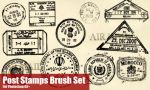 Post Stamp Brushes by fiftyfivepixels