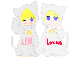 Len and Lucas by Lucaslover89
