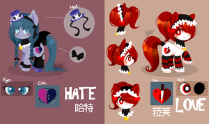 Pony OC-HATE and LOVE by abc002310