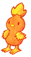 Torchic by PokeMonandFootball