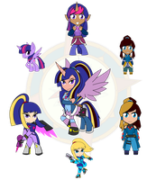 Assorted Chibis - AU Hexafusion by Dragon-FangX