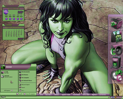 She-Hulk Desktop II by a666a