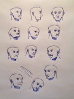 Manga faces by Mistling