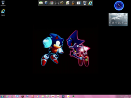 my desktop plus websites pinned to my task bar by CrystalTheHedgehog18