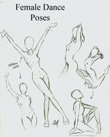 Female Dance Poses by momohana2