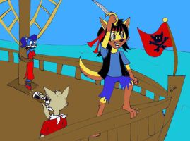 Art Trade: Furry pirate by Levvvar