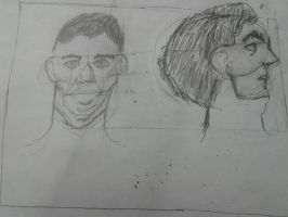 Male Face Drawings by Musicislove12