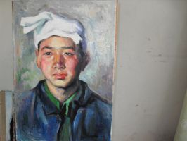 my new oil painting by curryQ