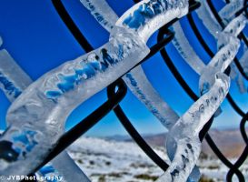 Chain Link Ice-1 by JYBPhotography