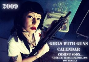 Girls with guns calendar promo by xomi3