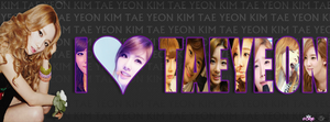 I LOVE TAEYEON FOR FB TIMELINE COVER by ExoticGeneration21