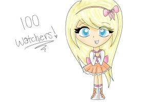 100 Watchers! by Candi-floss