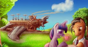 Clear Skies and Twilight Commish by bunnimation