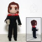 Beaded doll: Captain Kathryn Janeway by crafty-maika