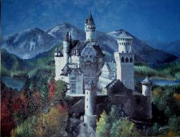 Castle in Oils by T-Tiger
