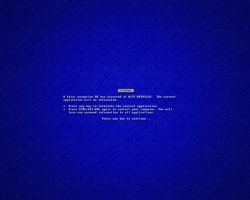 bluescreen by inportb