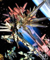Strike Freedom: Shutsugeki by sandrum