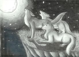 Howling Wolves by Vashcoon