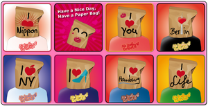 Have a Nice Day, Have a Paper Bag. Set 2 by catferret