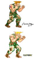 GUILE : STREET FIGHTER II by viniciusmt2007
