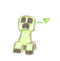 Colored Pencil Creeper by AmbiguouslyAwesome1