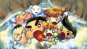Crayon Shin-chan: Waterfall by kurohime27