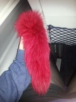 My dyed red fox tail by LittleRock3DD