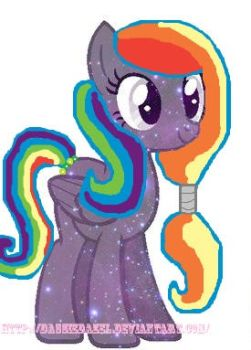 Rainbow Galaxy (My new oc) by DassieDazel