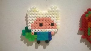 Chibi Finn perler by Cosplaying-Squirtle