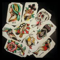 Hand Painted Cards by Steve-Rieck