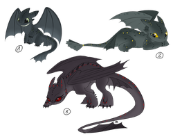 Night fury - adoptables by Anipurk