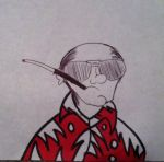 Hunter S Thompson by AperatureScience