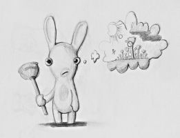 Raving Rabbits Think by crazyrems