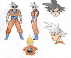 Goku Model Sheet by futemimo