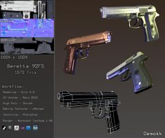 Beretta 92FS Model by Demokk
