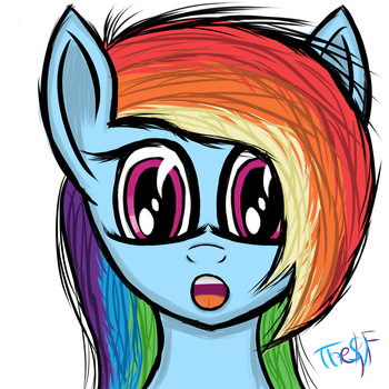 Rainbow Dash with Surprised Face :3 by TheSKIF
