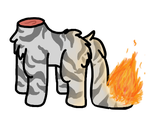 Headless Tabby on Fire EDIT by Zella-Wolf