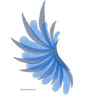 Transparent Blue Wing by K1ku-Stock