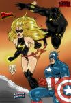 Miss Marvel, Captain America and Black Panther by violencejack666