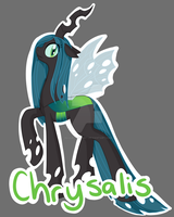 Queen Chrysalis Badge by MaquettePonet