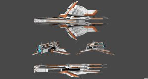 Turian Carrier Concepts Views by nach77
