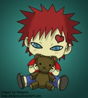 Gaara First Coloring by whitevsblack23