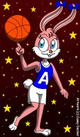 Basketball Player Babs Bunny by CaseyDecker