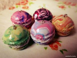 Marble Macarons by UnlimitedCuriosity