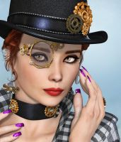 Steampunk Girl by Roy3D