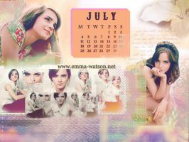 Emma Watson July Calendar by RollingStar89